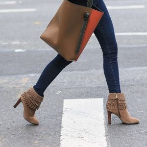 New Isola suede Layton fringed cuff boots